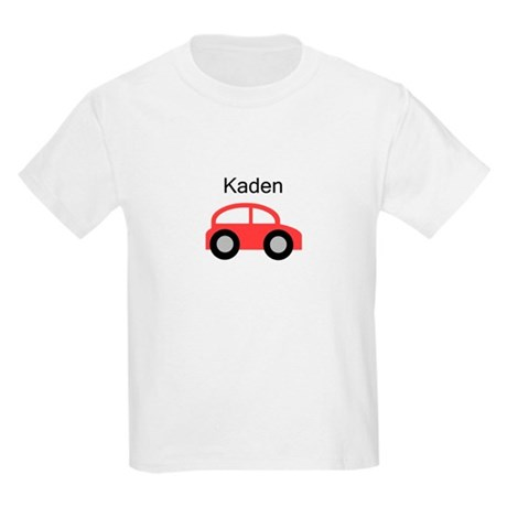 Kaden - Red Car Kids Light T-Shirt