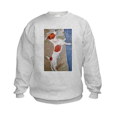 A Jack Russell Terrier Kids Sweatshirt