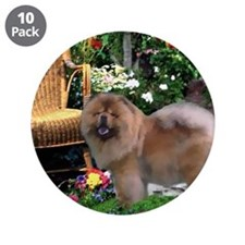 "Chow Chow Art 3.5"" Button (10 pack)"
