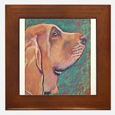 """""""Hank"""" a Bloodhound Framed Tile"""