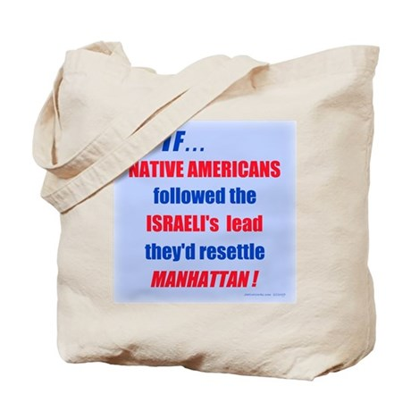 Native Americans resettle Manhattan Tote Bag