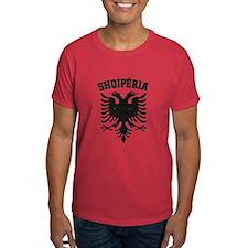 Albania Black Distressed T-Shirt