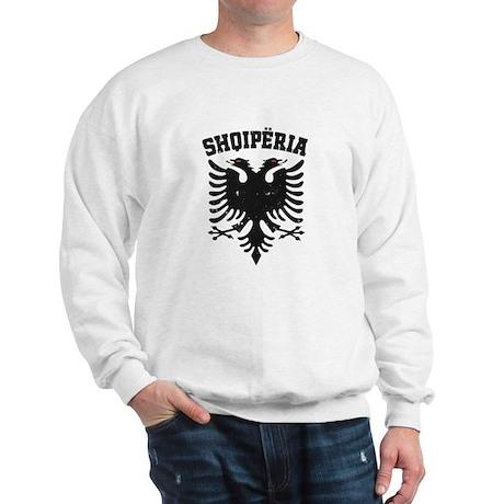 Albania Black Distressed Sweatshirt