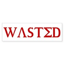 WASTED GREEK FRAT SHIRT COLLE Bumper Bumper Sticker