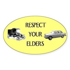Respect Your Elders Sticker (oval)