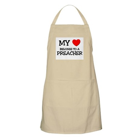 My Heart Belongs To A PREACHER BBQ Apron