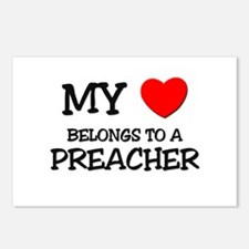 My Heart Belongs To A PREACHER Postcards (Package