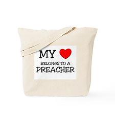 My Heart Belongs To A PREACHER Tote Bag