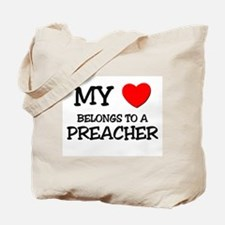 My Heart Belongs To A PREACHER Tote Bag
