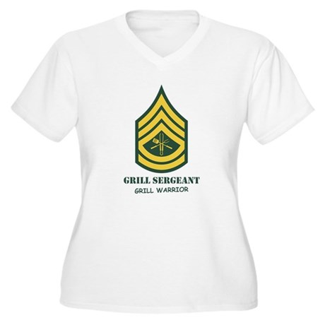Grill Sgt. Women's Plus Size V-Neck T-Shirt