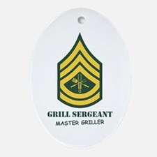 Grill Sgt. Oval Ornament