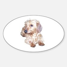 Fawn Wire Haired Oval Decal