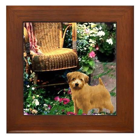 Norfolk Terrier Art Framed Tile