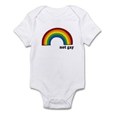 Not Gay Rainbow Infant Bodysuit