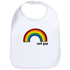 Not Gay Rainbow Bib