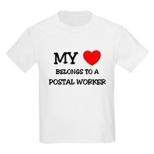 My Heart Belongs To A POSTAL WORKER T-Shirt