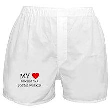My Heart Belongs To A POSTAL WORKER Boxer Shorts