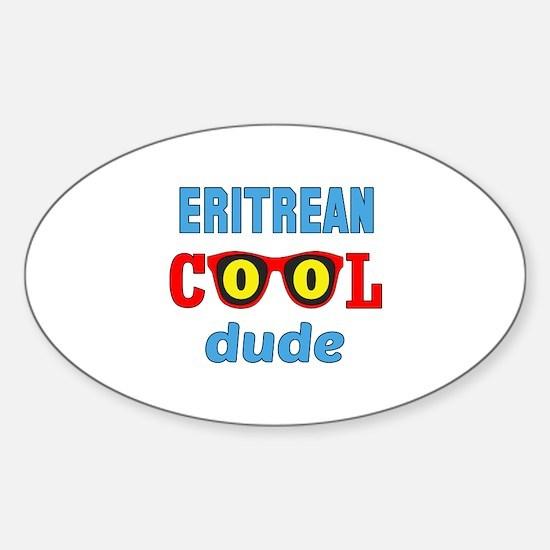 Eritean Cool Dude Sticker (Oval)