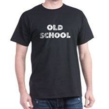 "Black ""Old School"" Black T-Shirt"