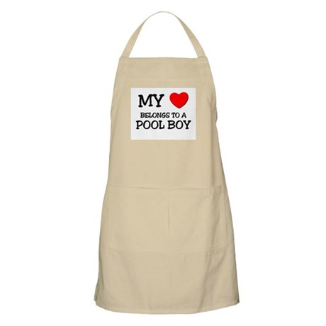 My Heart Belongs To A POOL BOY BBQ Apron