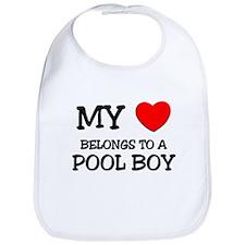 My Heart Belongs To A POOL BOY Bib