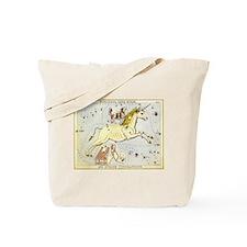 Vintage Unicorn Constellation Tote Bag