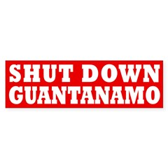 Shut Down Guantanamo Bumper Bumper Sticker