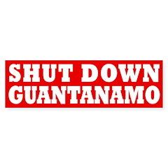 Shut Down Guantanamo Bumper Bumper Sticker