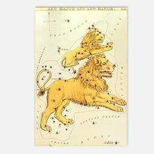 Vintage Celestial Zodiac, Leo Postcards (Package o