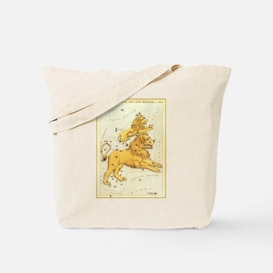Vintage Celestial Zodiac, Leo Tote Bag