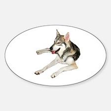 Husky Oval Sticker (10 pk)