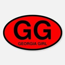 Georgia Girl II Oval Decal