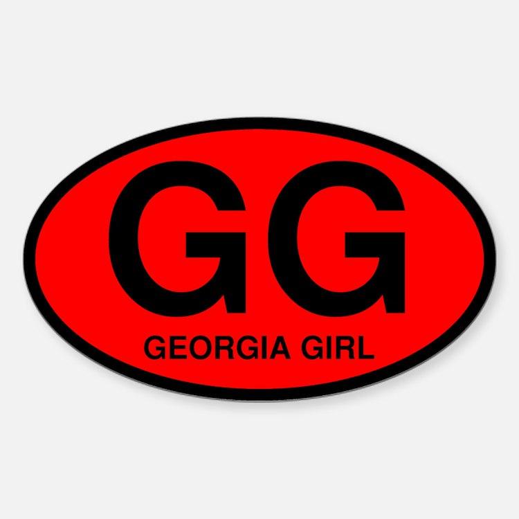 Georgia Girl II Oval Decal