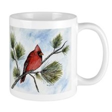 Cute Red cardinal bird Mug