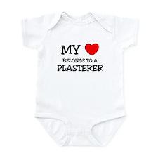 My Heart Belongs To A PLASTERER Infant Bodysuit
