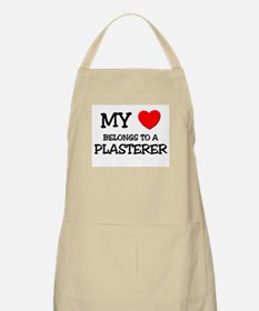 My Heart Belongs To A PLASTERER BBQ Apron