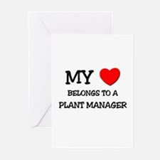 My Heart Belongs To A PLANT MANAGER Greeting Cards