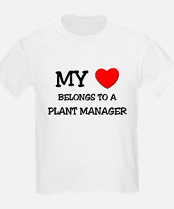 My Heart Belongs To A PLANT MANAGER T-Shirt