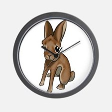 Red Belgian Hare Wall Clock