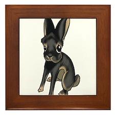 Black and Tan Belgian Hare Framed Tile