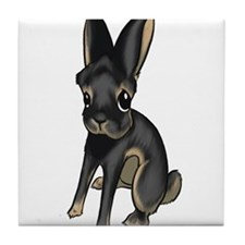 Black and Tan Belgian Hare Tile Coaster