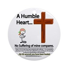 A Humble Heart Ornament (Round)