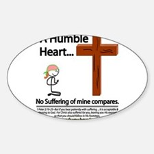 A Humble Heart Oval Decal