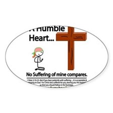 A Humble Heart Oval Sticker (10 pk)