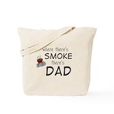 father's day gift smoke Tote Bag