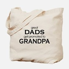 grandpa t-shirts great dads Tote Bag