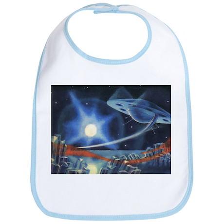 Vintage Science Fiction Blue Planet Bib