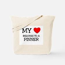 My Heart Belongs To A PINNER Tote Bag