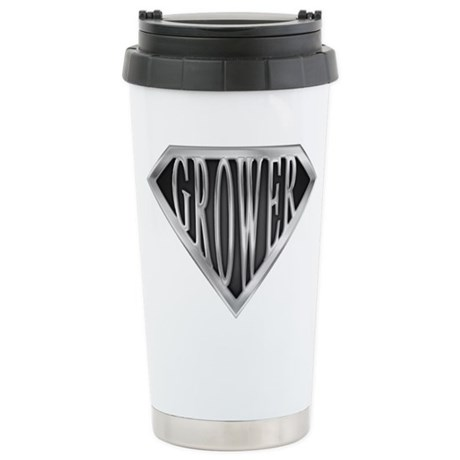SuperGrower(metal) Stainless Steel Travel Mug