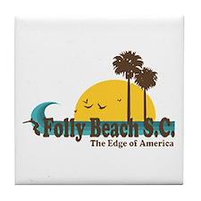 Folly Beach SC Tile Coaster